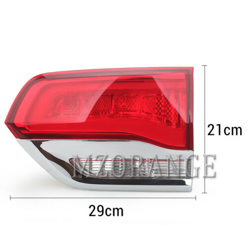 Right Driver Side Rear Inner Tail Light Lamp For Jeep Grand Cherokee 2014-2018