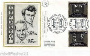 1986-FDC-SOIE-1-JOUR-CINEMA-J-EPSTEIN-ETJ-RENOIR-TIMBRE-Y-T-2436-2438