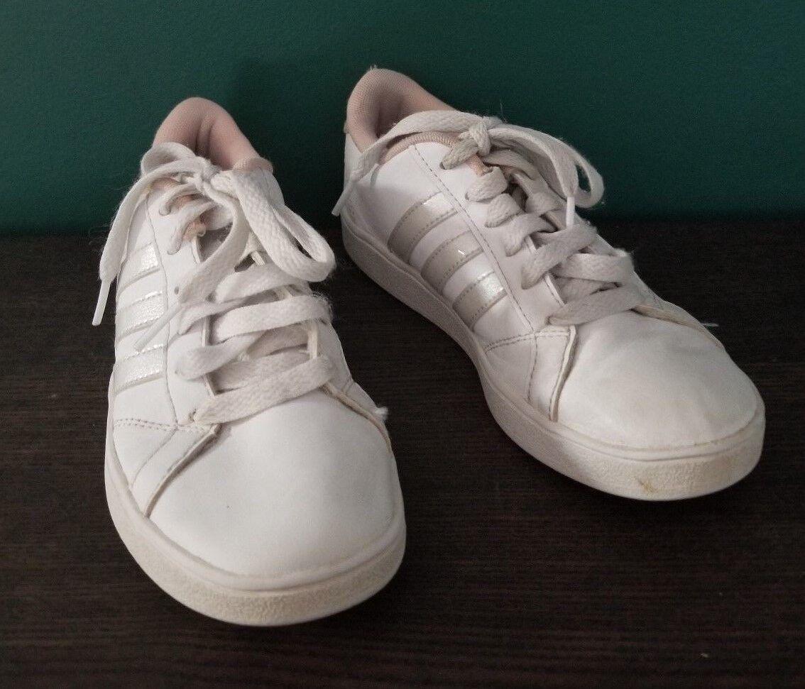 Adidas Girls Baseline Leisure Sneakers Weiß / Koralle Größe 2