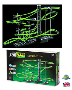Glow In The Dark Space Rail Race 10m Track Marble Run