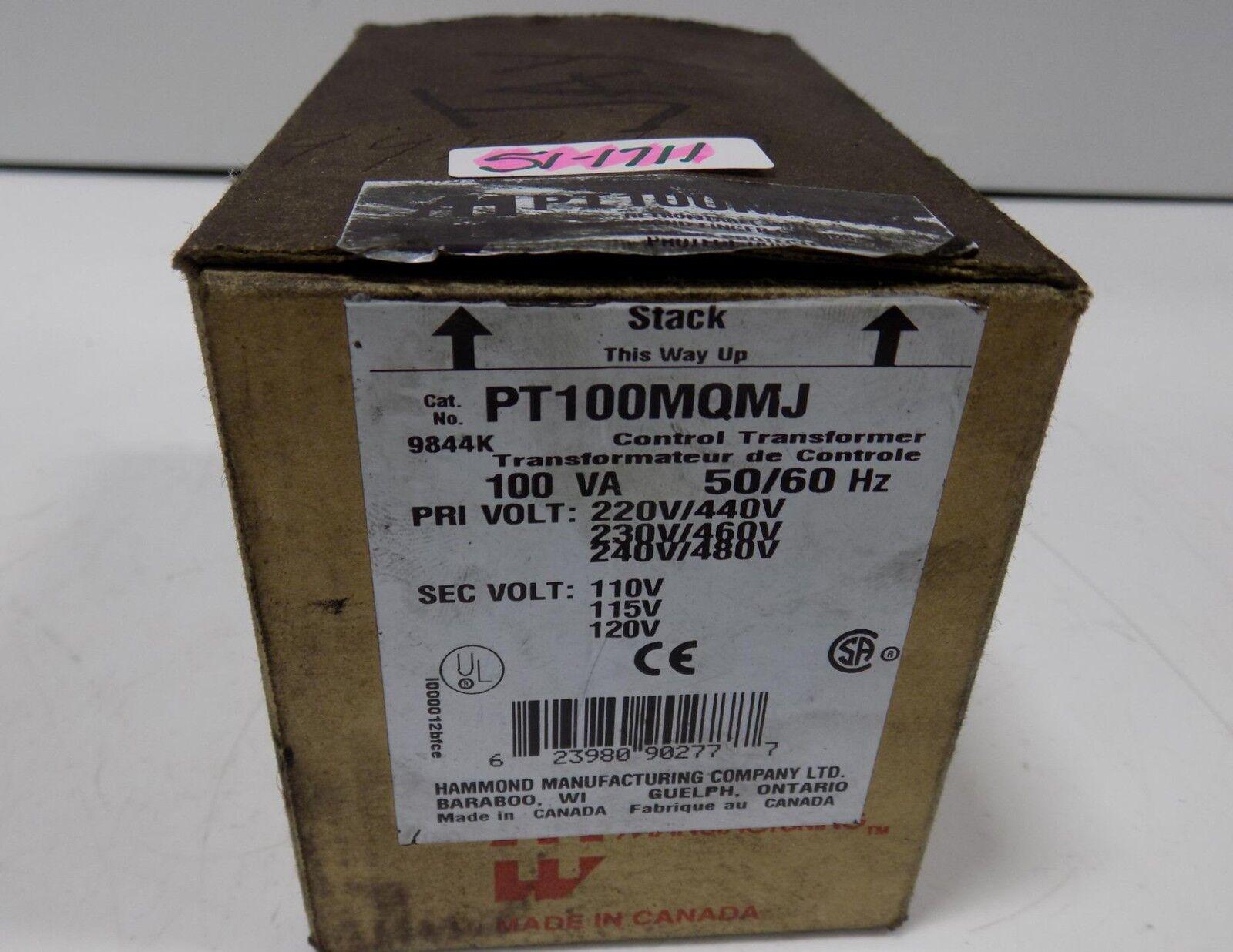 Transformador de control de Hammond Hammond Hammond 100 va 50/60 Hz PT 100 mqmj Nuevo En Caja df55fb