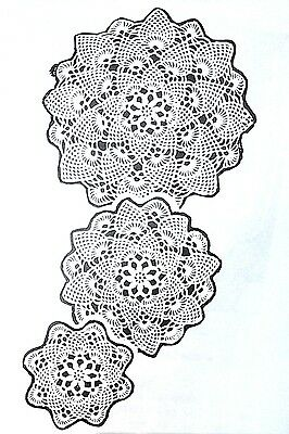 3-SZS Reproduction 5416 Vintage Design STRAWBERRY DOILIES Pattern to Crochet