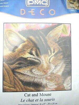 Free P/&P B Mouse and Dandelion Counted Cross Stitch Kit 14 ct aida 24x24cm