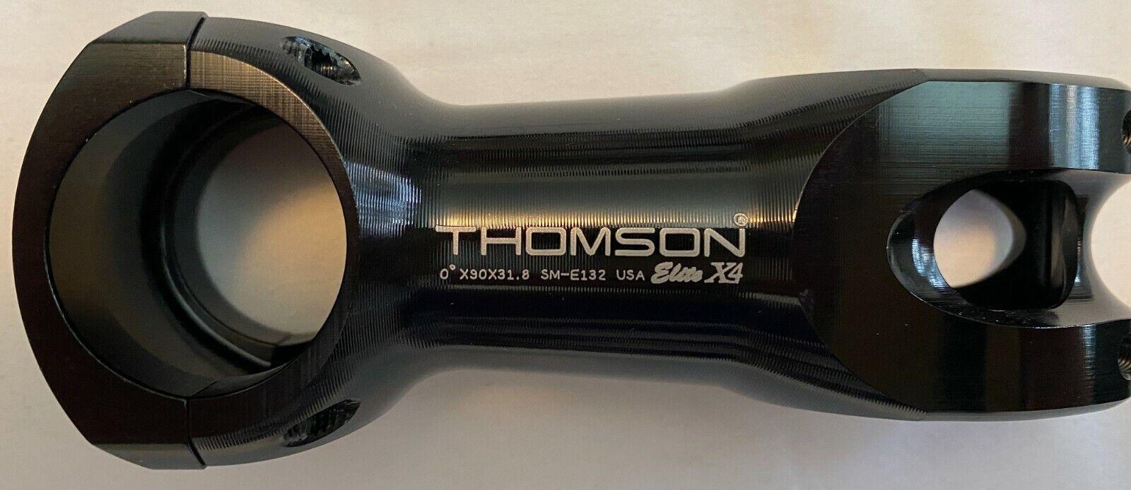Thomson Elite X4 Mountain Bike Vélo Tige 0 degré 35.0 x 32 mm Noir