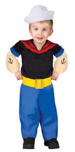 Child Popeye Cartoon Hero Halloween Costume