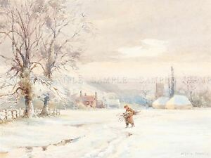 JOSEPH-RUBENS-POWELL-BRITISH-WINTER-OLD-ART-PAINTING-POSTER-PRINT-BB5986A