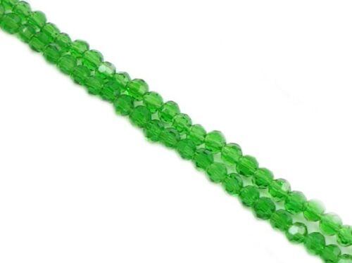 50 Stück* Glasslperlen Glasschliffperlen Schnitt Glasperlen 4mm
