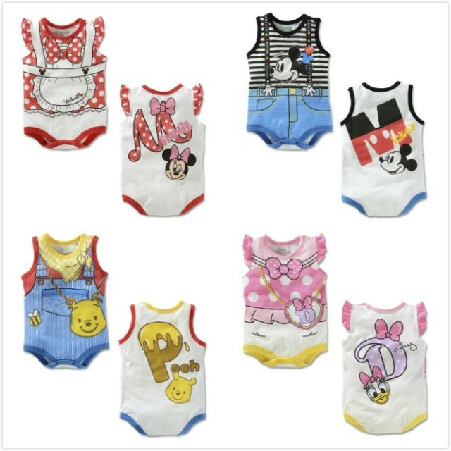 1 Pcs baby infant boys girls cotton bodysuit summer suit boys girls jumpsuit