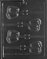 Baby Feet Lollipop Sucker Baby Shower Chocolate Candy Mold Ships Same Day M103