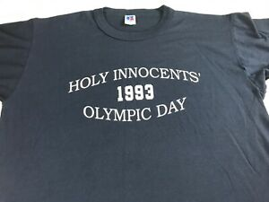 Holy-Innocents-T-Shirt-VTG-1993-Adult-SZ-M-L-Field-Day-School-Alumni-USA-Made