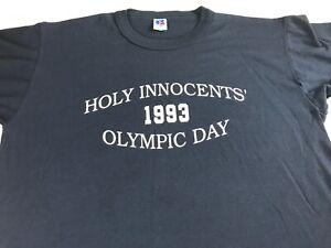 Holy-Innocents-T-Shirt-VTG-1993-Adult-SZ-M-L-Field-Day-School-Alumni-USA-Made
