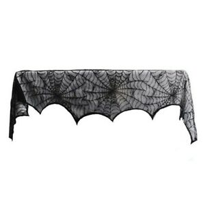 1-Piece-Lace-Spiderweb-Fireplace-Cloth-for-Halloween-Decoration-Black-Z9A8