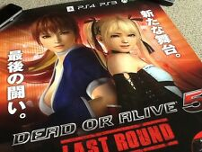 Rare Japanese Shop Poster Dead Or Alive 5 Ps3 Ps4 Xbox One japan Video Game