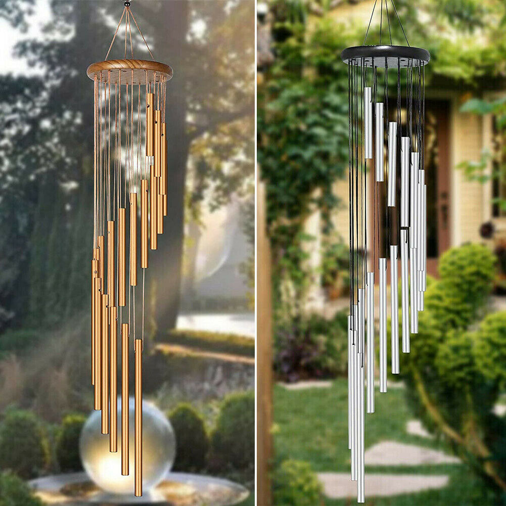 18 Tubes Large Wind Chimes Memorial Chapel Bells Home Garden Patio Hanging Decor