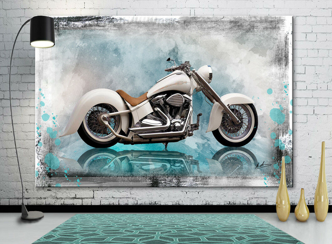 Moto Oldtimer DECO images Abstrait la fresque art pression XXL 1929 A