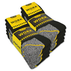10-20-Paar-Arbeitssocken-WORK-Herrensocken-Socken-Baumwolle-Meliert