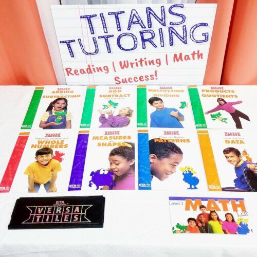 Level 3 Math Lab VersaTiles Kit 8 Books 3rd Grade Children Mathematics Kids