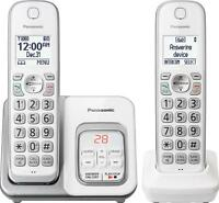 Panasonic - Kx-tgd532w Dect 6.0 Expandable Cordless Phone System With Digital...