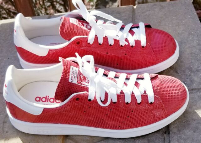 outlet store 6112c 38db8 ADIDAS STAN SMITH TENNIS SHOES MEN'S SIZE 8 RED W/ WHITE VERY CLEAN Near  MINT