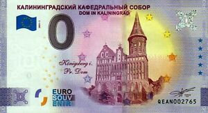 Null Euro Schein - 0 Euro - Russia - Dom in Kaliningrad 2021-1 Anniversary