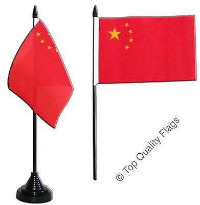 "China TABLE FLAG 10x15cm 6""x4"" Desk Flag"