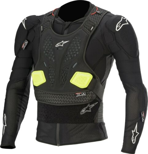 ALPINESTARS BIONIC YOUTH PROTECTION L//S JACKET BLK//FLUO YLW YOUTH SM 482-6140