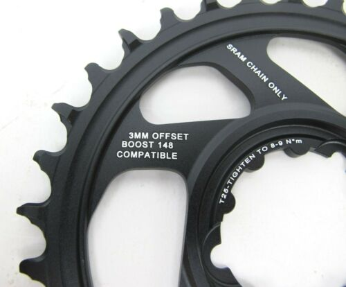 SRAM Chainring Eagle 32t Direct Mount X-Sync 2 3mm Boost Offset Black//White