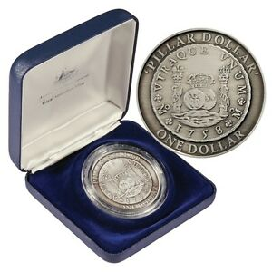 1758 Pillar Dollar 2006 $1 Australia Antique Finish Silver Coin EXCEPTIONAL!