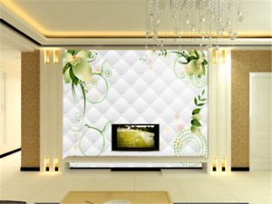 3D Flower Leaves Lingge 883 Wallpaper Mural Paper Wall Print Wallpaper Murals UK