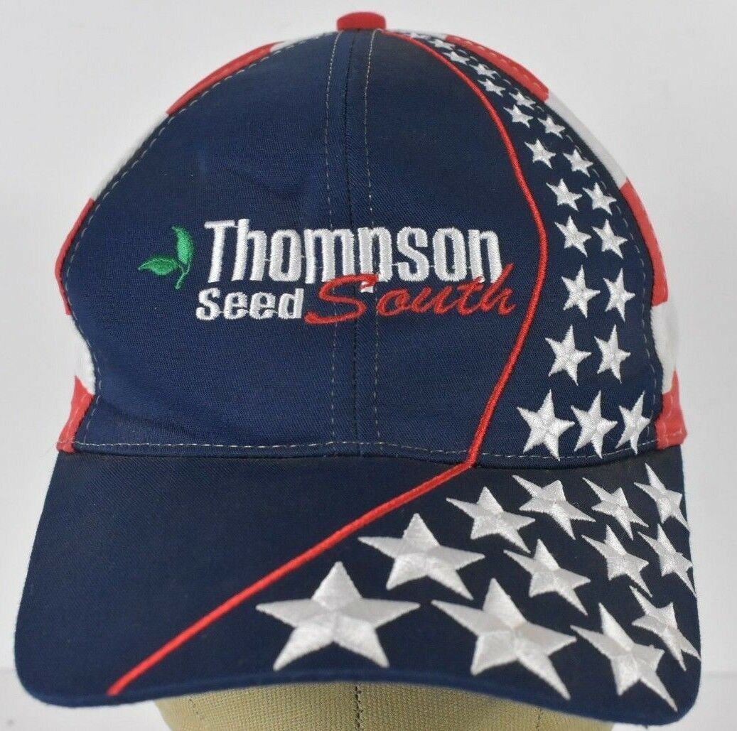 Navy Blue Thompson Seed South South Seed Embroidered Baseball Hat Cap Adjustable Leather dac90d
