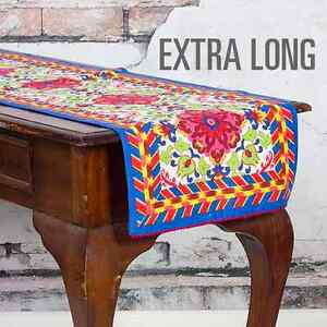 Extra-Long-Mediterranean-Style-Table-Runner-1-7-m-x-0-37-m-BRAND-NEW