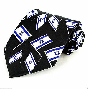 Star Of David /& Menorah Men/'s Neck Tie Jewish Religious Holiday Black Necktie