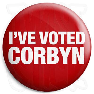 Fridge Magnet Option 25mm Button Badge I/'ve Voted Corbyn Labour Election