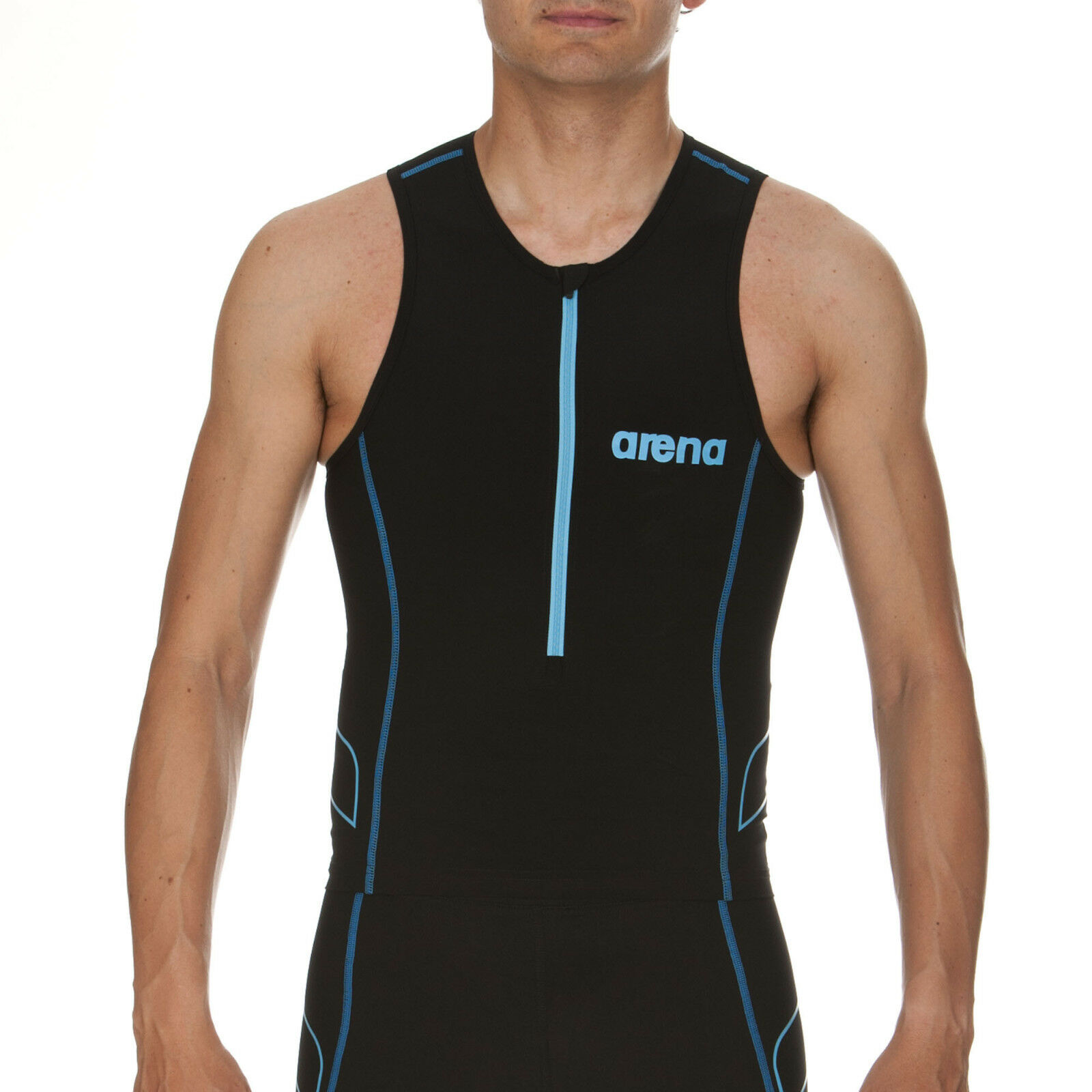 Arena ST Tritop Mens Triathlon Racing Running Cycling Training Top Front Zip