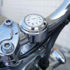 "7/8 1""Motorcycle Bike Chrome Waterproof Night Vision Handlebar Clock Mount Watch"