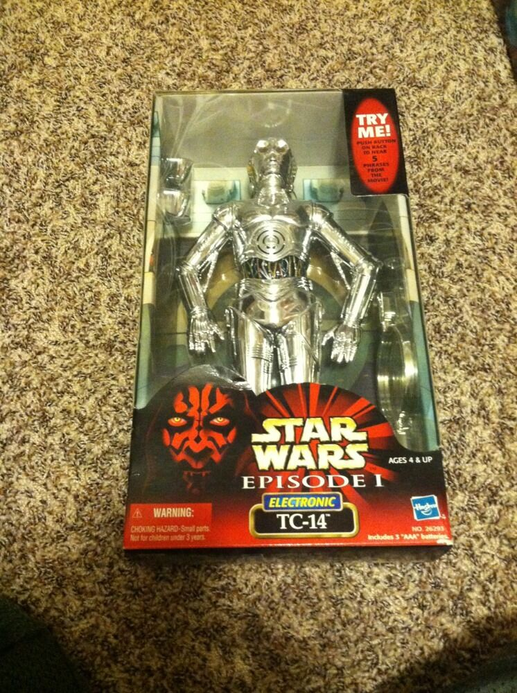 Hasbro Star Wars 1 6 scale 12  EPISODE I ELECTRONIC TC-14 PredOCOL DROID RARE