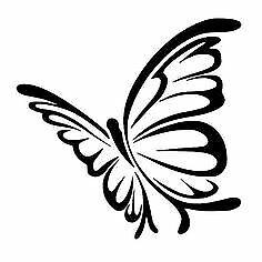 Butterfly Cute Decal Cartoon Vinyl Sticker Laptop Car Window Choose Color!