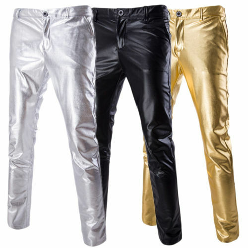 Newest-Men-039-s-Skinny-Casual-Gilding-Solid-Long-Pants-Slim-Sport-Pants-Trousers