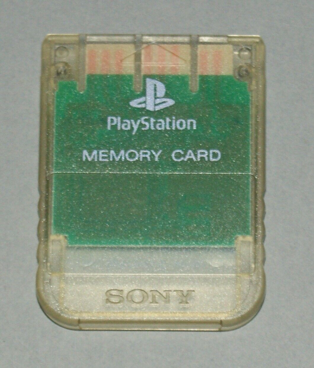 Clear Crystal Official PS1 Memory Card - Sony PlayStation One Tested SCPH-1020 1