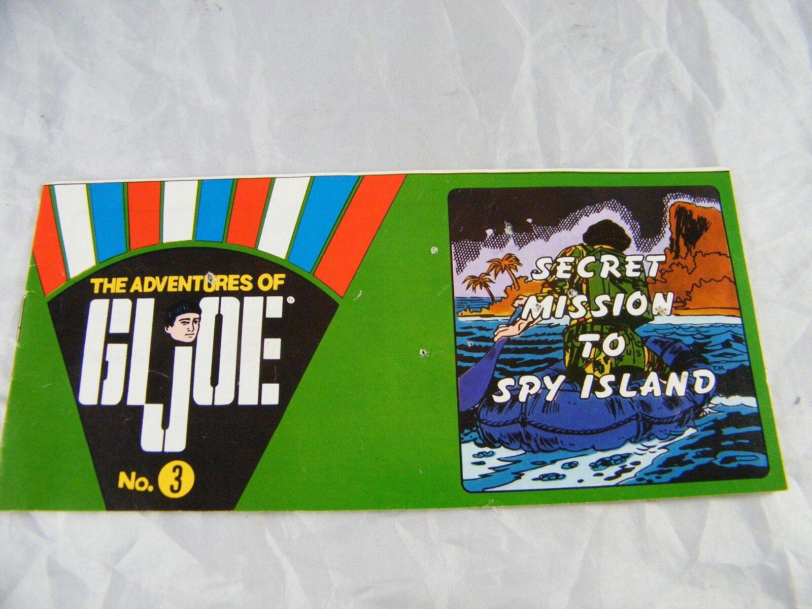 1969 G.I. JOE MINI-COMIC SECRET MISSION TO SPY ISLAND PUBLISHED HASBRO