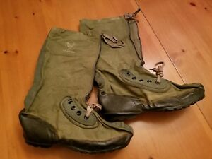 Vintage-Military-USAF-Extreme-Cold-Weather-HEAVY-TYPE-MUKLUK-BOOTS-N-1B-Lg