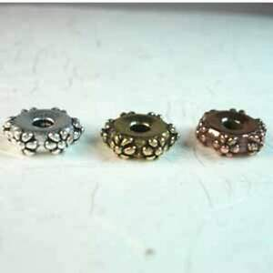 Beading-Beads-TC-5697-10mm-Large-Hole-Flower-Spacer-Bead-Copper-10-Beads