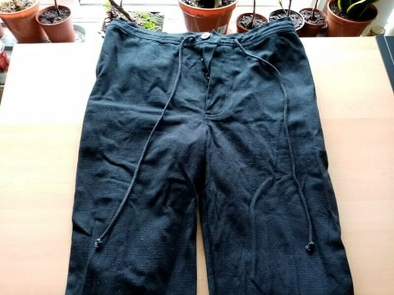 Black Cotton Medieval trousers Size S/M [ Medieval/LARP/Cosplay ]
