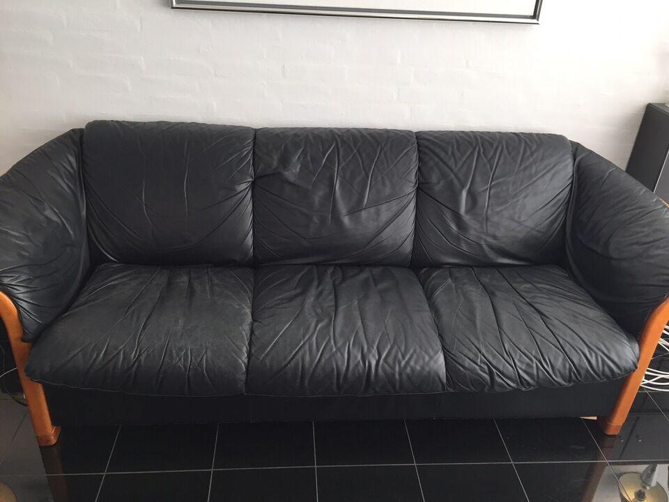 Sofagruppe, læder, Stressless
