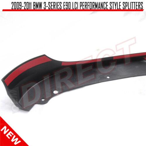 For 09-11 BMW E90 3-Series 328I 335 2PCS PP Front Bumper Lip Splitter Spoiler
