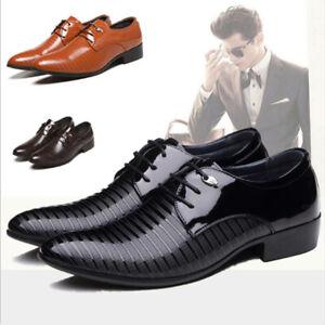 new concept 62945 521de Details zu Herren Lackschuhe Business Geschäft Schnürer Halbschuhe Hochzeit  Anzug Schuhe 48