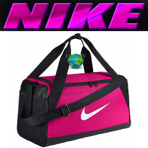 153fb252f51e Details about Nike Brasilia Small Duffel Bag BA5335 Rush Pink Black White  Gym Bag Training