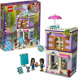 LEGO-Friends-Rare-Emma-s-Art-Studio-41365-New-amp-Sealed-box-wear