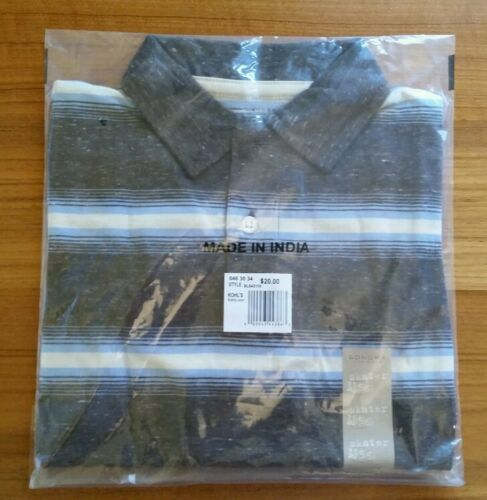NWT $20 Sonoma Boys 5//6 Long Sleeve Skater Shirt BROWN Layer Look POLO  1711114K