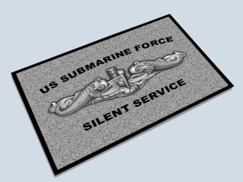 US Submarine Force Floor Door Mat Navy Dolphins USN Silent Service USSVI Veteran